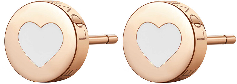 S`Agapõ Moderné oceľové náušnice srdce CLICK SCK56