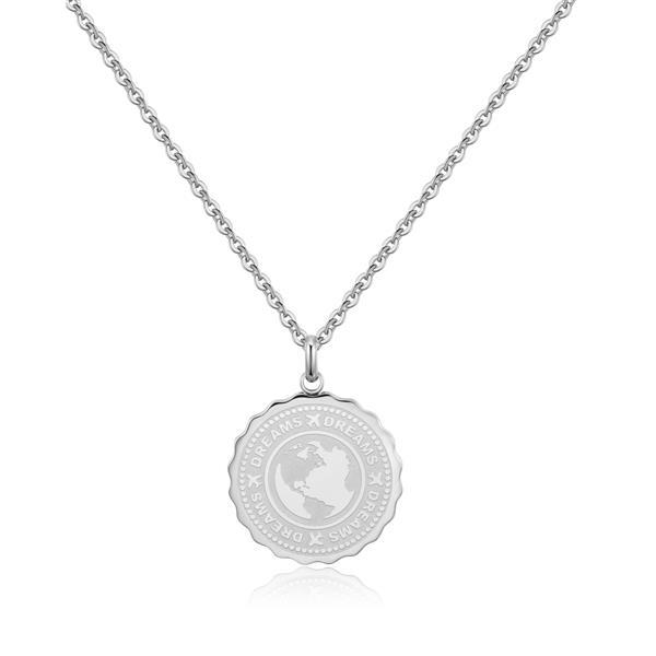 S`Agapõ Oceľový náhrdelník Dreams Coin SKY01