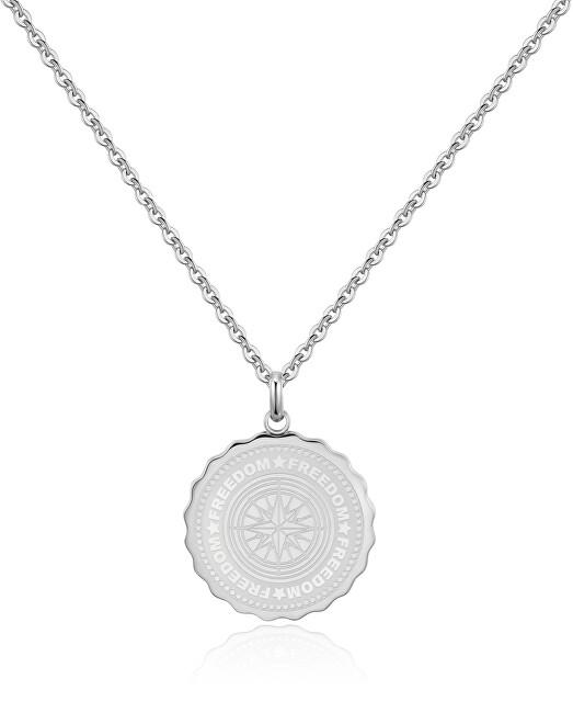 S`Agapõ Oceľový náhrdelník Freedom Coin SKY05