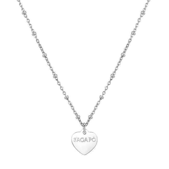 S`Agapõ Oceľový náhrdelník Happy SHAC44