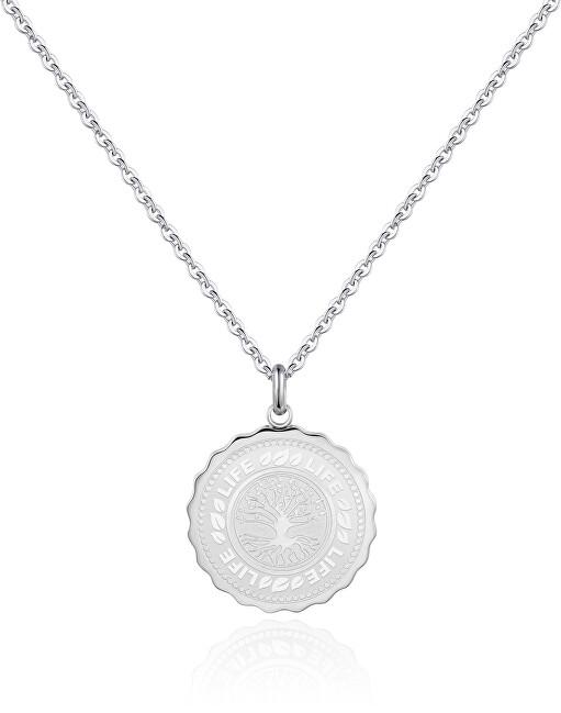 S`Agapõ Oceľový náhrdelník Life Coin SKY07