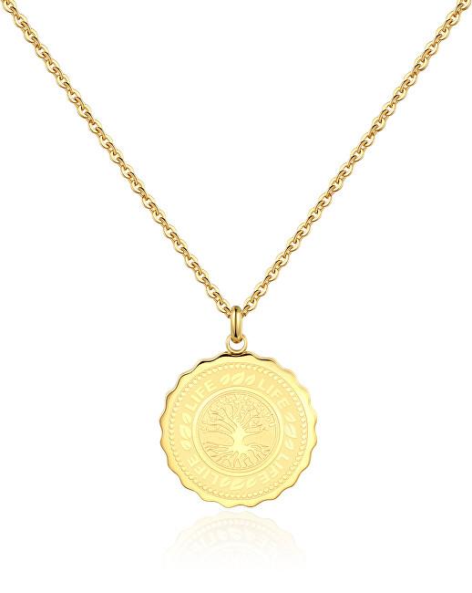 S`Agapõ Oceľový náhrdelník Life Coin SKY08