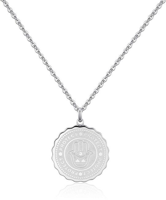 S`Agapõ Oceľový náhrdelník Protect Coin SKY03