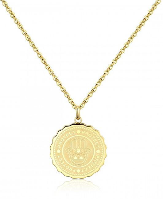 S`Agapõ Oceľový náhrdelník Protect Coin SKY04