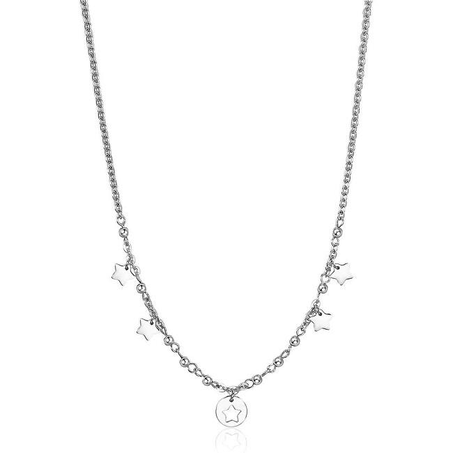 S`Agapõ Oceľový náhrdelník s hviezdičkami Haiti SHT02
