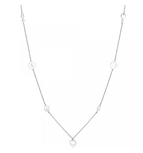 S`Agapõ Oceľový náhrdelník s ozdobami Hidden SHD01