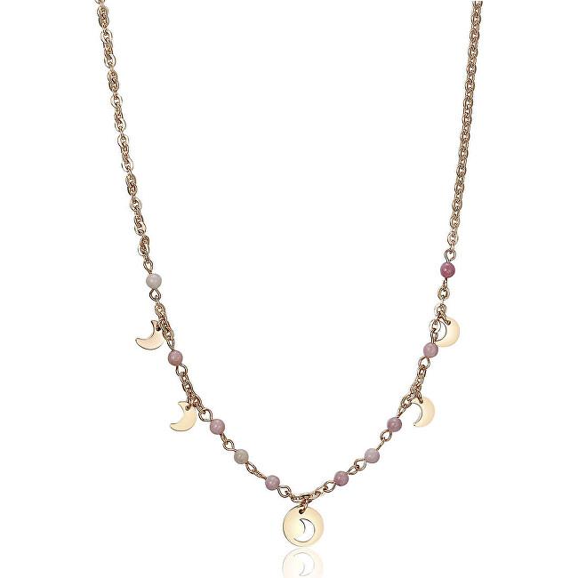 S`Agapõ Oceľový náhrdelník s polmesiaci Haiti SHT05