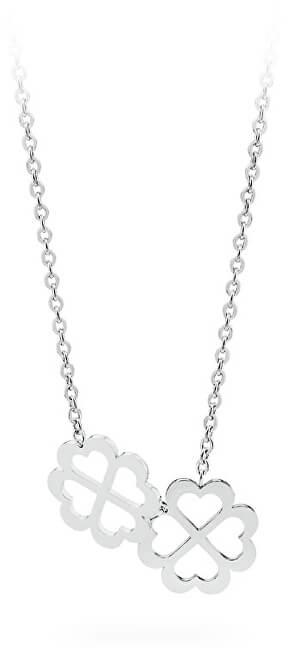 S`Agapõ Oceľový náhrdelník sa štvorlístkami Butterfly SBF07
