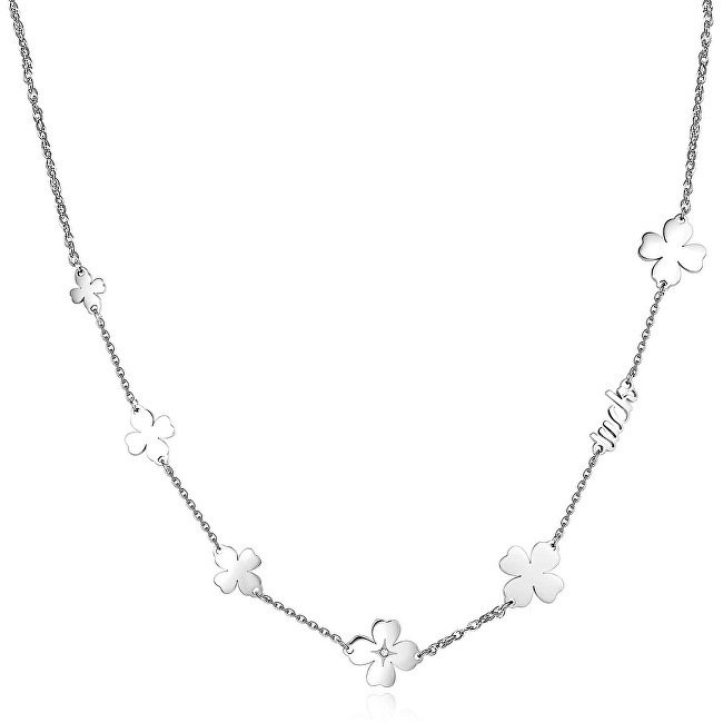 S`Agapõ Oceľový náhrdelník sa štvorlístkami Fancy SFC06