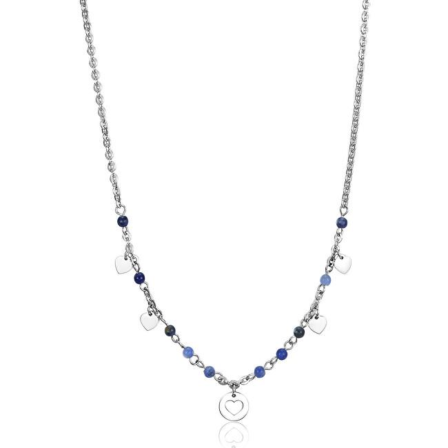 S`Agapõ Oceľový náhrdelník sa srdcu Haiti SHT03
