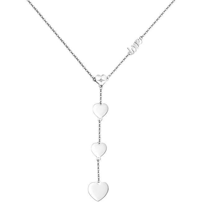 S`Agapõ Oceľový náhrdelník so srdiečkami Fancy Love SFC03