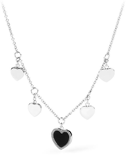 S`Agapõ Oceľový srdiečkový náhrdelník Casablanca SCS04