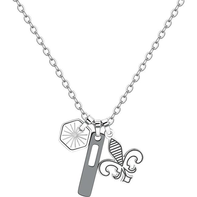 S`Agapõ Pánsky oceľový náhrdelník India SIN03