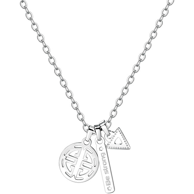 S`Agapõ Pánsky oceľový náhrdelník India SIN04