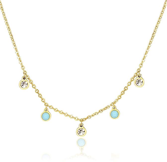 S`Agapõ Pozlátený oceľový náhrdelník Luce SCE04