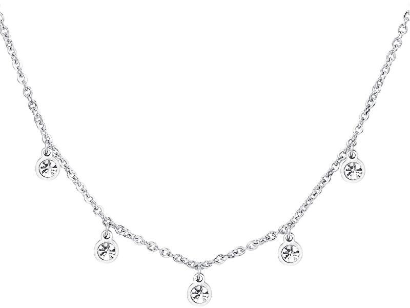 S`Agapõ Trblietavý oceľový náhrdelník Luce SCE01