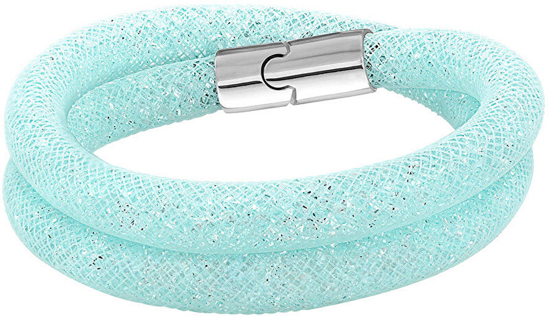 Swarovski Náramek STARDUST LIGHT BLUE DOUBLE 5139746_5120149