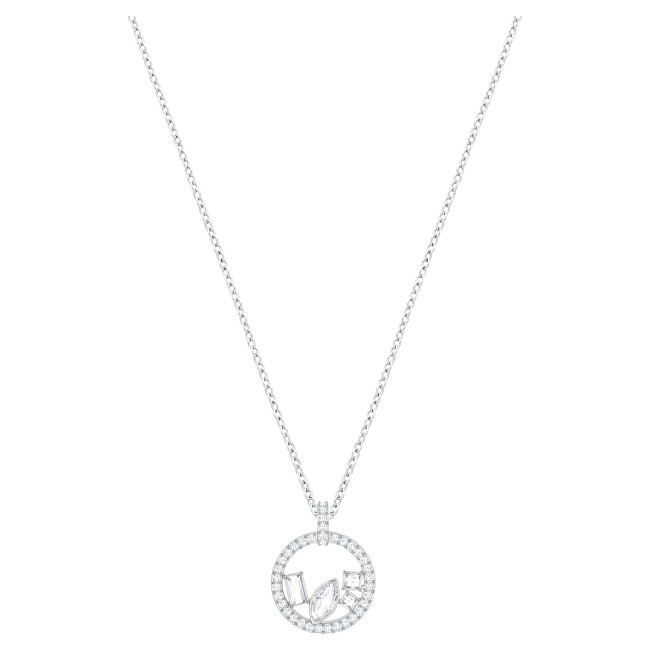 Swarovski Trblietavý strieborný náhrdelník s čírymi kryštálmi 5374135
