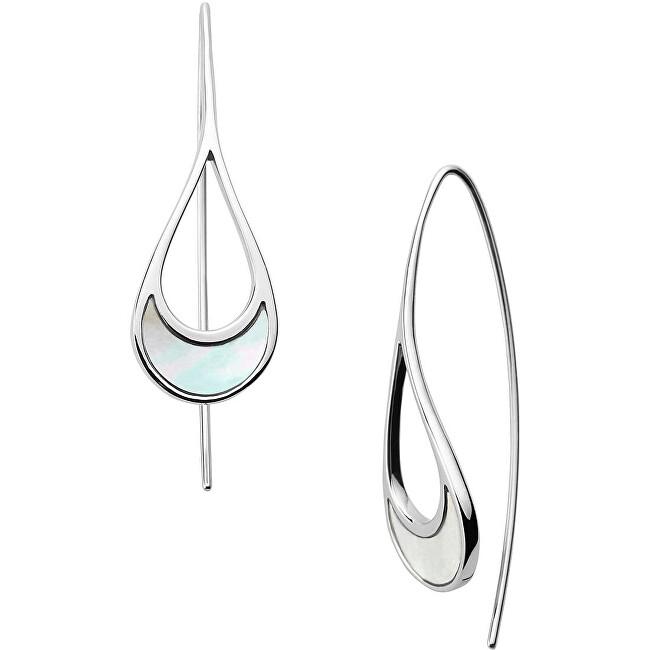 Skagen Dámske oceľové náušnice s perleťou SKJ1362040