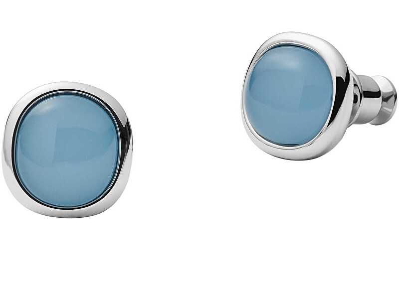 Skagen Elegantné oceľové náušnice kôstky Sea Glass SKJ1458040