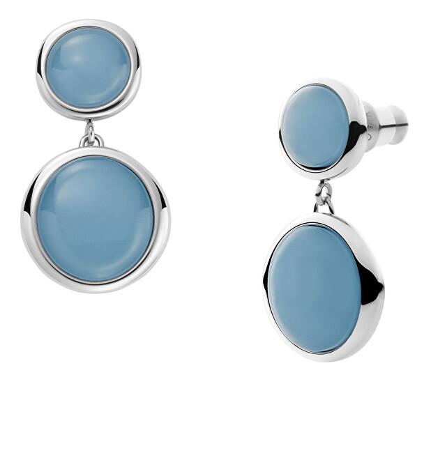 Skagen Elegantné oceľové náušnice Sea Glass SKJ1459040