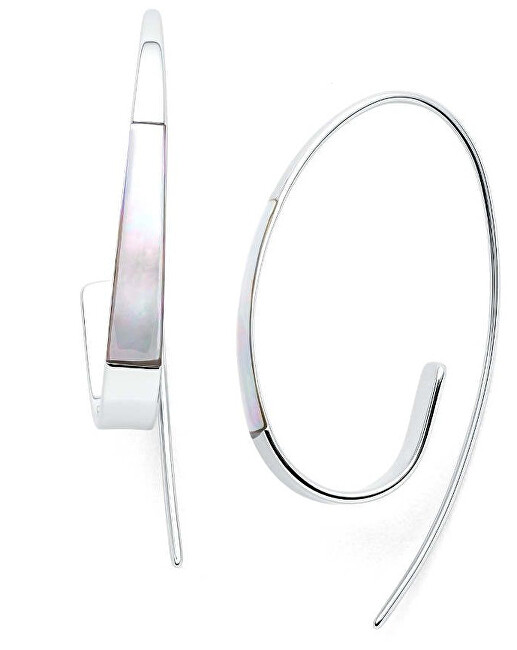 Skagen Luxusné oceľové náušnice s perleťou SKJ1330040