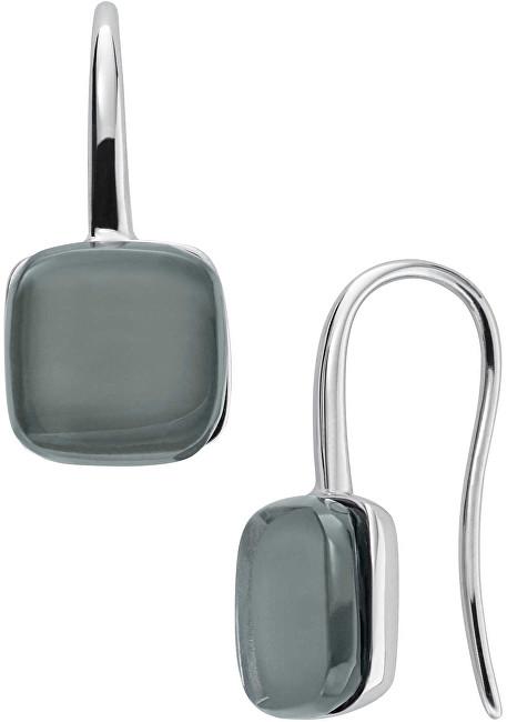 Skagen Nadčasové oceľové náušnice so šedým sklom Sea Glass SKJ0872040