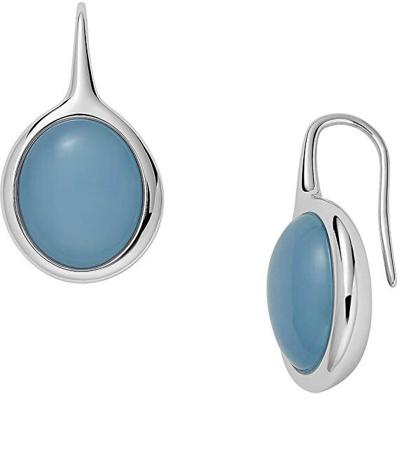 Skagen Nadčasové oceľové náušnice Sea Glass SKJ1460040