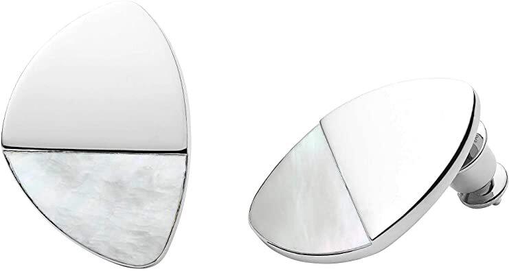 Skagen Oceľové náušnice s perleťou SKJ1297040