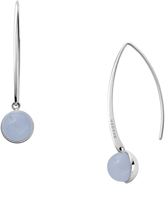 Skagen Pôvabné oceľové náušnice Sea Glass SKJ1434040