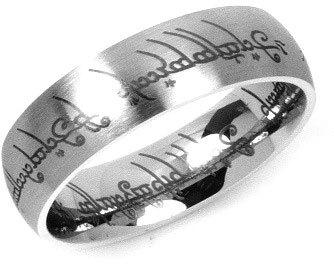 Silvego Ocelový prsten moci z filmu Pán prstenů RRC2010 50 mm
