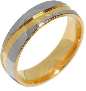 Silvego Snubní ocelový prsten pro muže a ženy MARIAGE RRC2050-M 61 mm