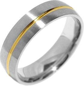 Silvego Snubní ocelový prsten pro muže PARIS RRC2048-M 65 mm