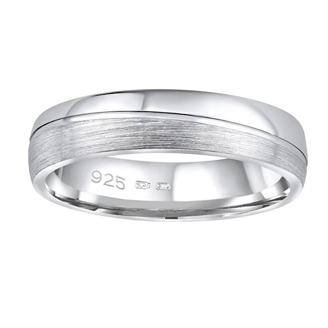 Silvego Snubný strieborný prsteň Glamis pre mužov aj ženy QRD8453M 52 mm