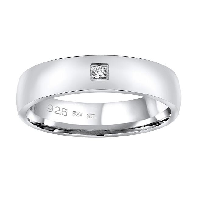 Silvego Snubný strieborný prsteň Poesia pre ženy QRG4104W 55 mm