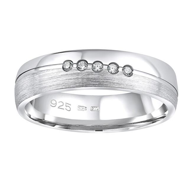 Silvego Snubný strieborný prsteň Presley pre ženy QRZLP012W 52 mm
