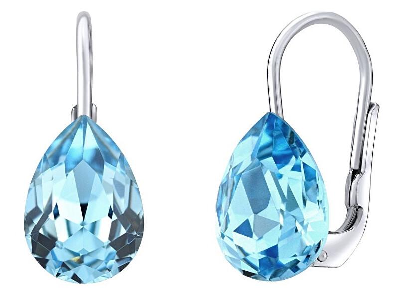 Silvego Strieborné náušnice s modrými Swarovski ® Crystals SILVEGOVSW080E