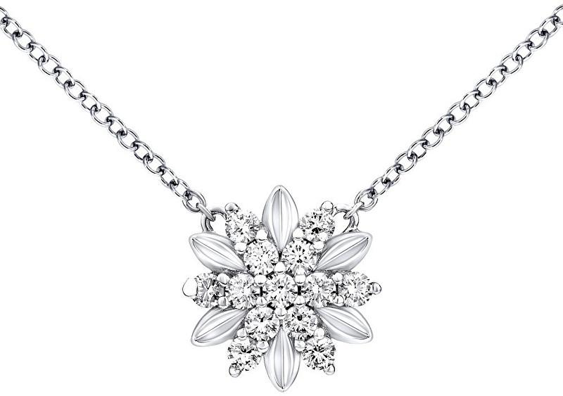Silvego Strieborný náhrdelník Alivio s kryštálmi Swarovski MWN10855A