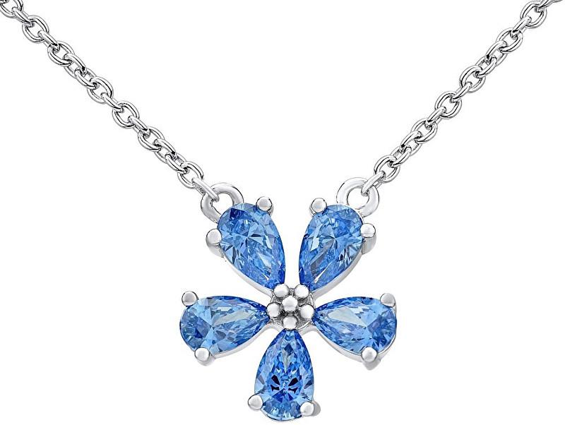 Silvego Strieborný náhrdelník ALEXANDRIA s kryštálmi Swarovski MW10816A