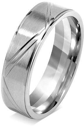 Silvego Snubní prsten pro muže a ženy z chirurgické oceli RRC0465 51 mm