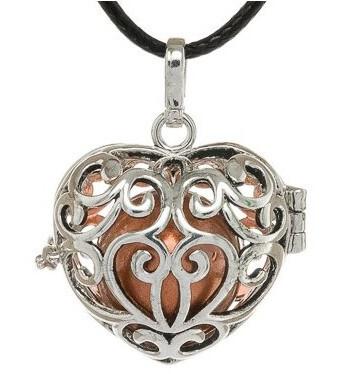 MUMMY BELL Dámsky náhrdelník medená rolnička Srdce K11SME18