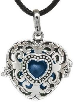 MUMMY BELL Dámsky náhrdelník Rolnička Srdce Vintage K9SM18