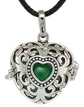 MUMMY BELL Dámsky náhrdelník Rolnička Srdce Vintage K9SZ18