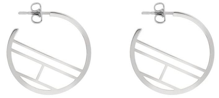 Tommy Hilfiger Dizajnové oceľové náušnice kruhy TH2780328