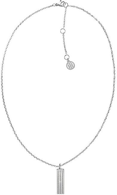 Tommy Hilfiger Ikonický oceľový náhrdelník s kryštálmi TH2780419