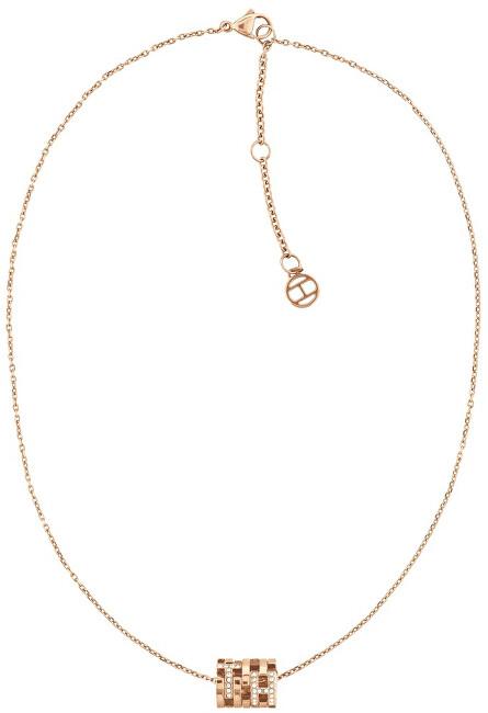 Levně Tommy Hilfiger Módní bronzový náhrdelník s fashion přívěskem TH2780385