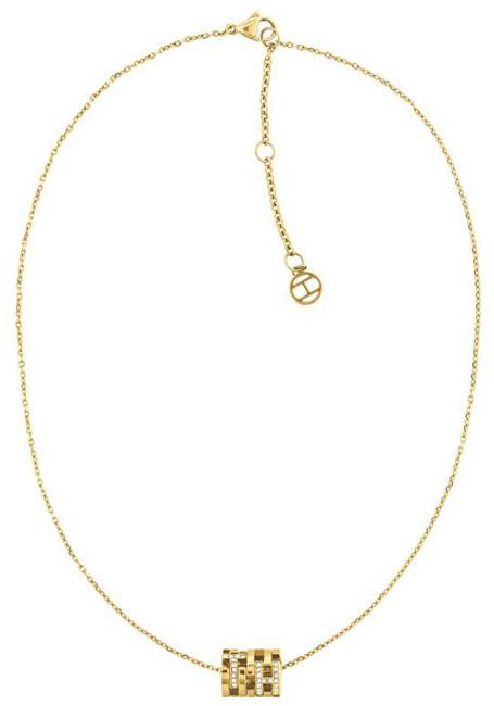 Tommy Hilfiger Módne pozlátený náhrdelník s fashion príveskom TH2780384