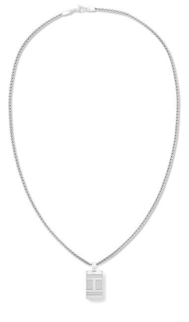 Tommy Hilfiger Ocelový náhrdelník s přívěskem ve tvaru psí známky 2790316
