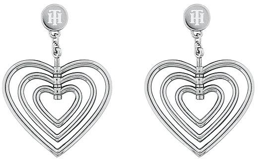 Tommy Hilfiger Romantické oceľové náušnice Srdce TH2780406