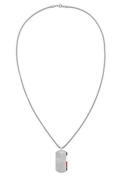 Tommy Hilfiger Stylový ocelový náhrdelník s přívěskem ve tvaru psí známky 2790248